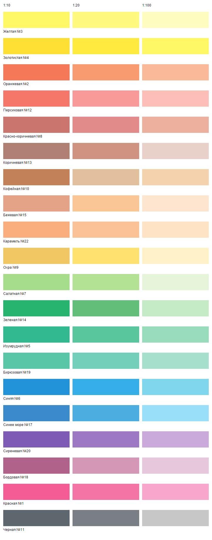Текс краска цвета